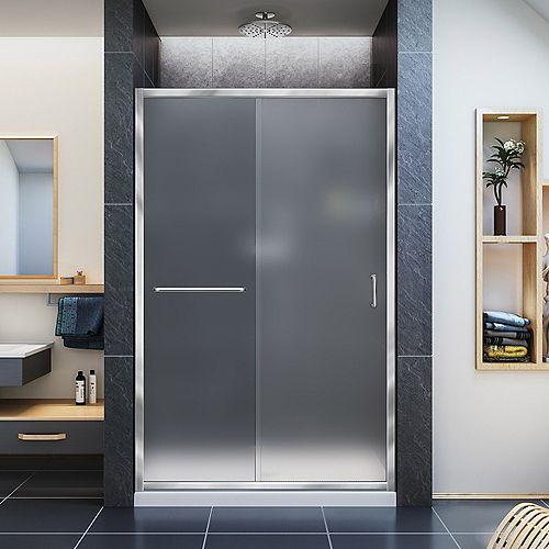 DreamLine Infinity-Z 44-inch to 48-inch x 72-inch Semi-Frameless Sliding Shower Door in Chrome