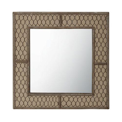 Miroir Toile câble de métal