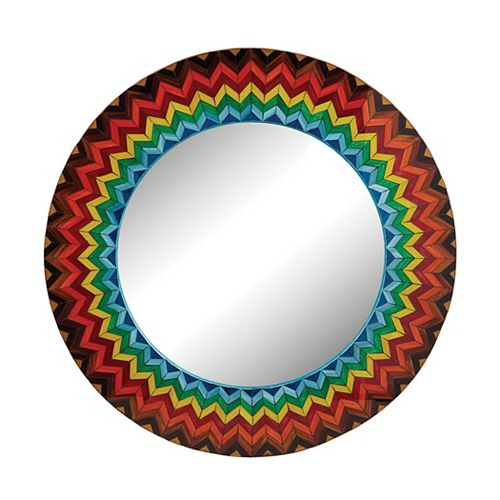 Vibrant Multi Starburst Mirror
