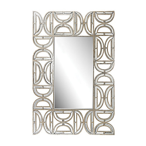 Miroir murale rectangulair avec cadre motif D