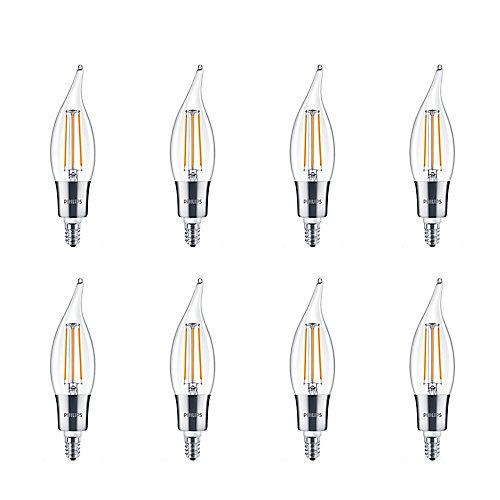 40W Equivalent Clear (2200K) Chan BA11 Filament LED Light Bulb (8-Pack)