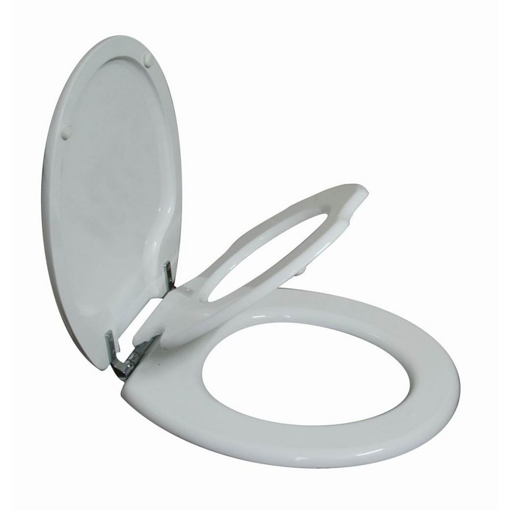 Topseat Tinyhiney Round Child And Adult 2 In 1 Regular Lid Close Chrome Hinge