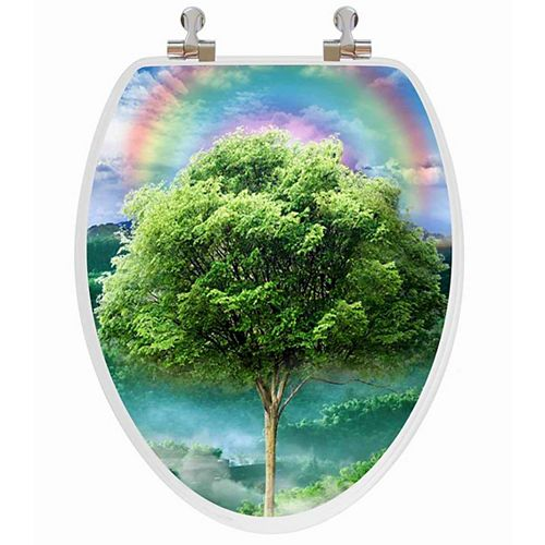Topseat Vario Scenario 3D Hologram 4 Images In 1 Elongated Season Trees Regular Close Chrome Hinge