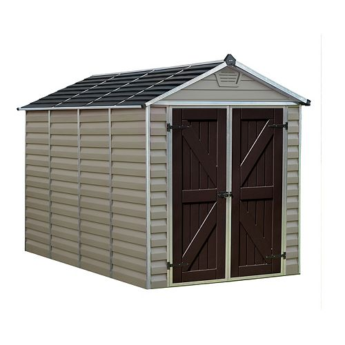 Palram SkyLight 6 ft. x 10 ft. Tan Storage Shed