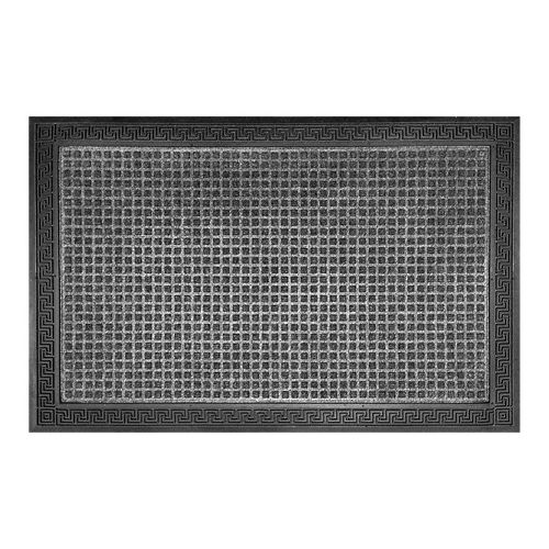 TrafficMASTER 24-inch x 35-inch Grey Rectangular Polyester Doormat with Rubber Border