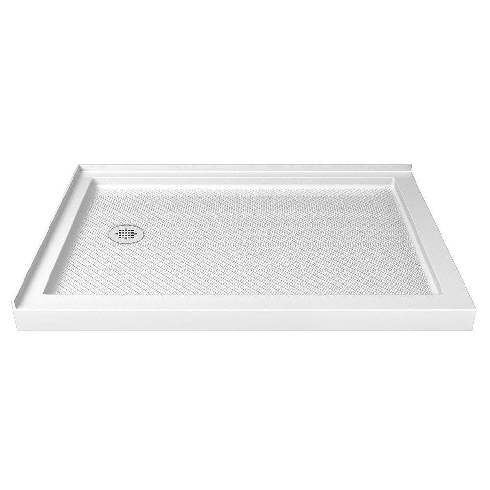 DreamLine SlimLine 36-inch x 48-inch Double Threshold Shower Base in White