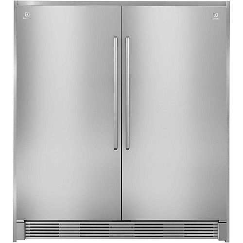72-inch Double Collar Trim Kit for All Refrigerator in Stainless Steel