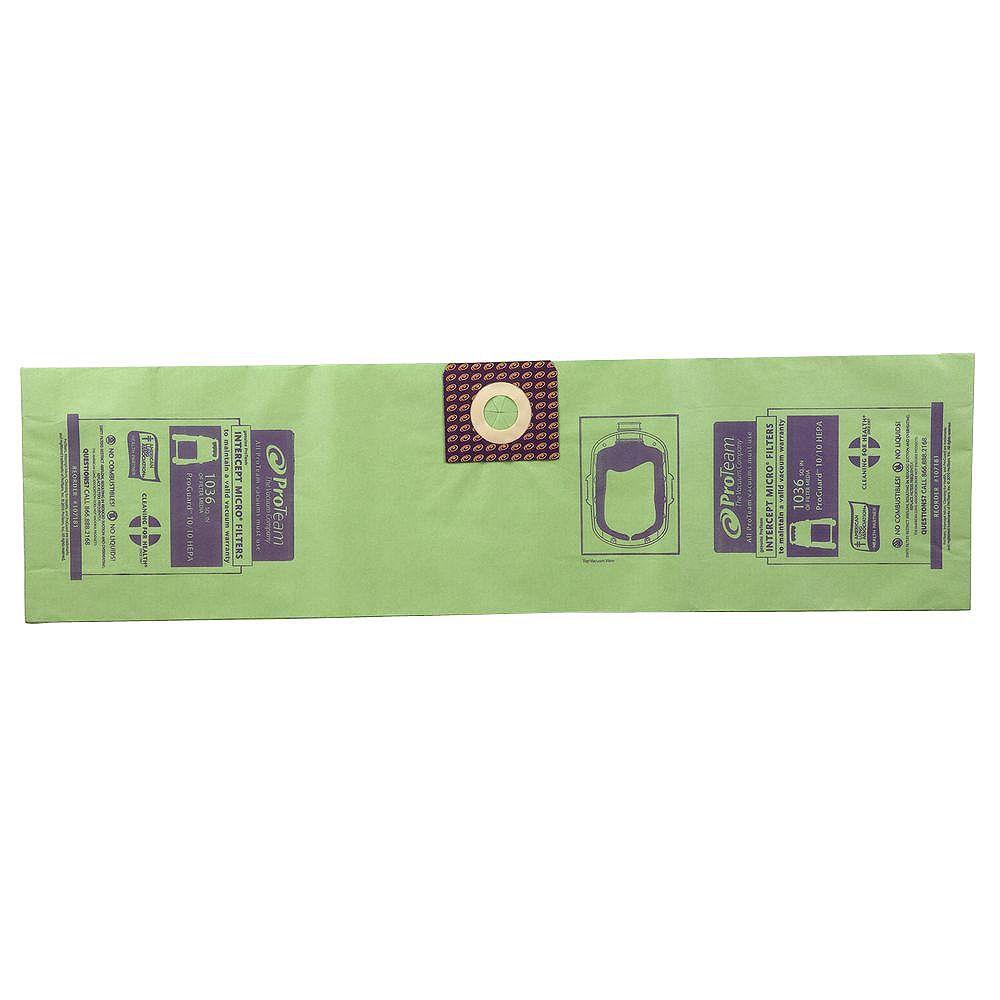 ProTeam Sac filtrant Intercept Micro pour aspirateurs ProGuard 10 - Paquet de 3
