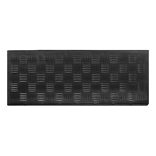 Deckplate 9-inch x 24-inch Black Rubber Stair Tread