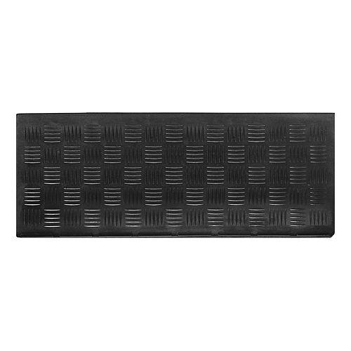 Couvre-marche en caoutchouc, 9 po x 24 po, motif Deckplate, noir