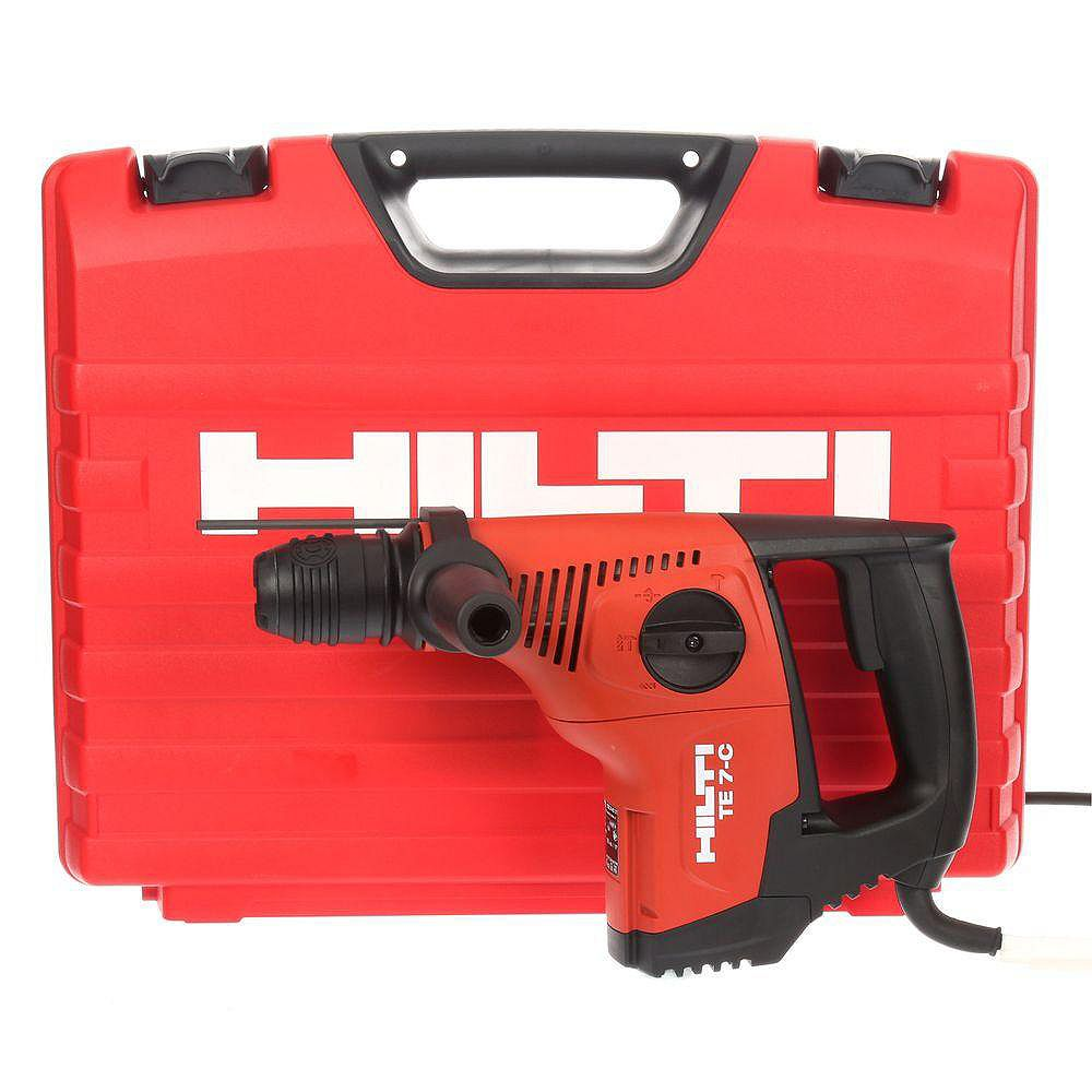 Hilti 120-Volt SDS-Plus TE 7-C Corded Rotary Hammer Drill Kit with 2 TE-CX Hammer Drill Bits