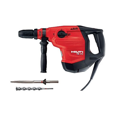 120-Volt SDS-MAX TE 70-AVR Corded Rotary Hammer Drill  with Chisel and TE-YX SDS-MAX Style Drill Bit