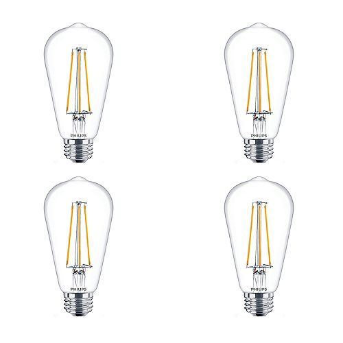 5W=40W Amber light ST19 LED Filament Light Bulb (4-pack)