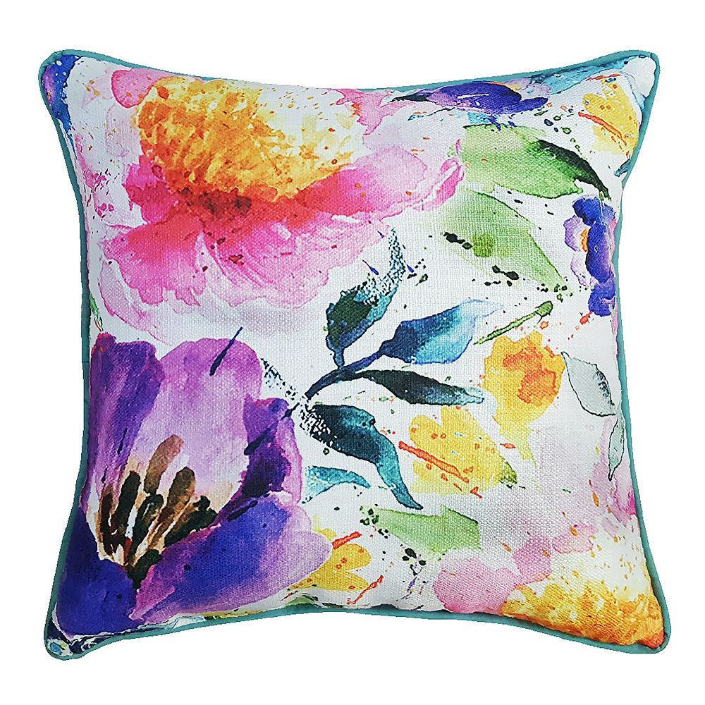 Hampton Bay 17-inch Water Colour Pillow with Haze Piping