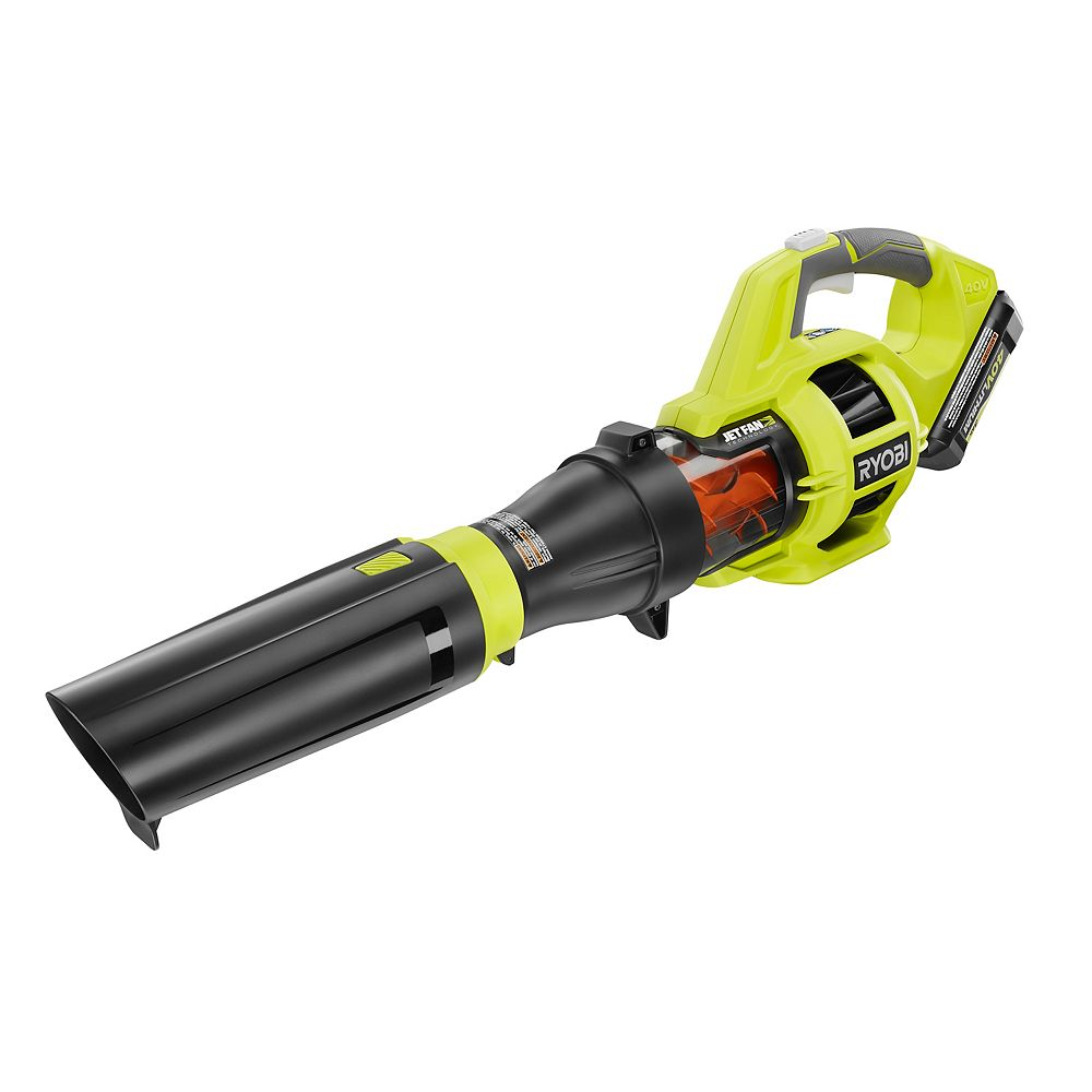 RYOBI 110 MPH 480 CFM Variable-Speed 40-Volt Lithium-Ion Cordless Jet Fan Leaf Blower with Battery
