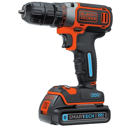 SMARTECH 20V MAX Lithium-Ion Cordless Single Speed Drill/Driver with Battery