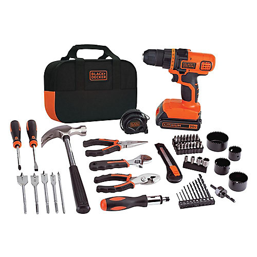 20V MAX Lithium-Ion Cordless Drill and Project Kit with Battery 1.5Ah, Charger and Kit Bag