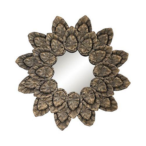 Miroir pétale métallique