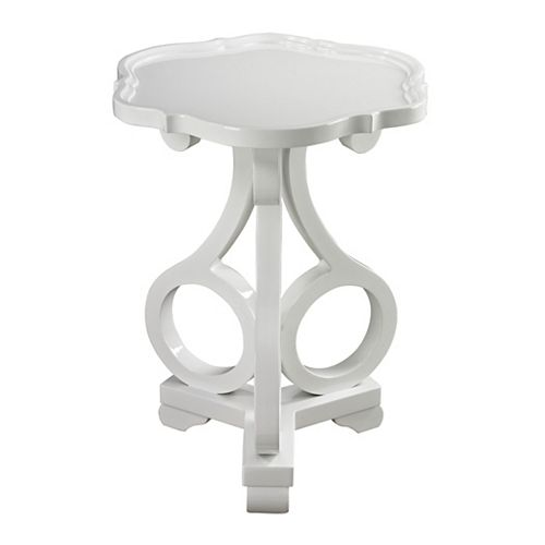 Titan Lighting Table d'appoint Knockeen blanc lustré