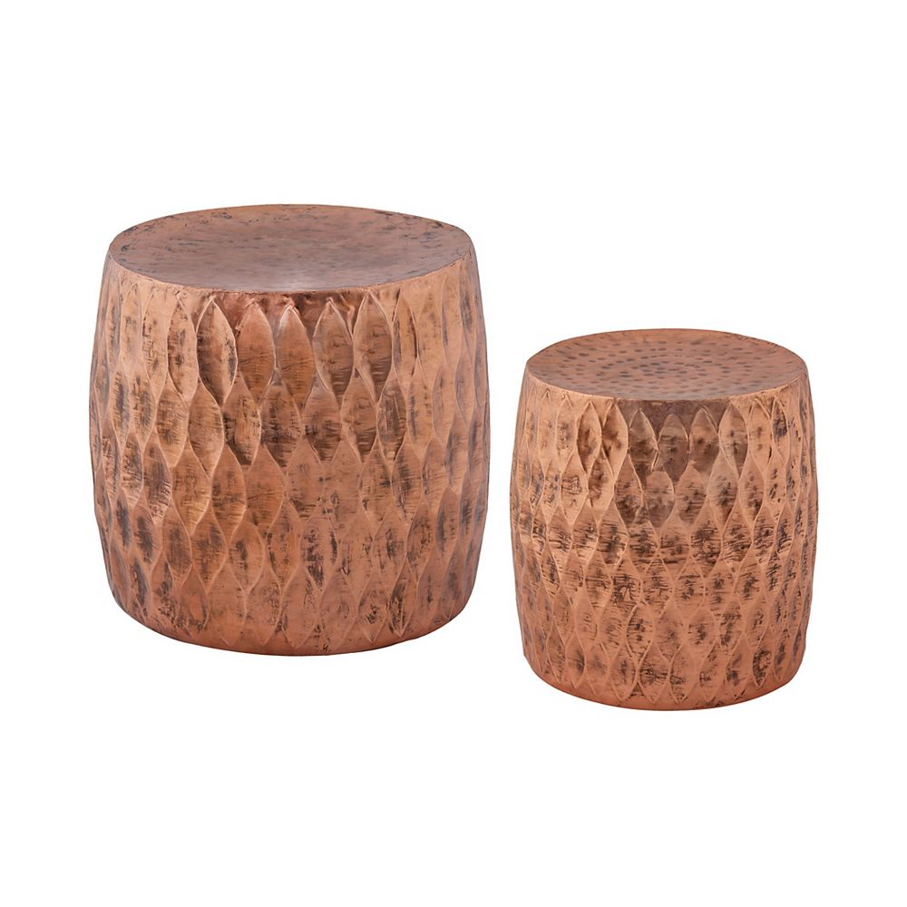 Titan Lighting Djembe Iron Accent Chair in Copper with Solid Pattern