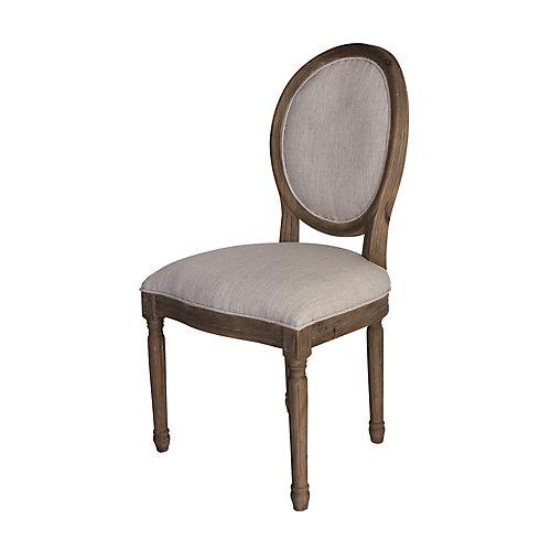 Chaise Allcott, bois massif, marron