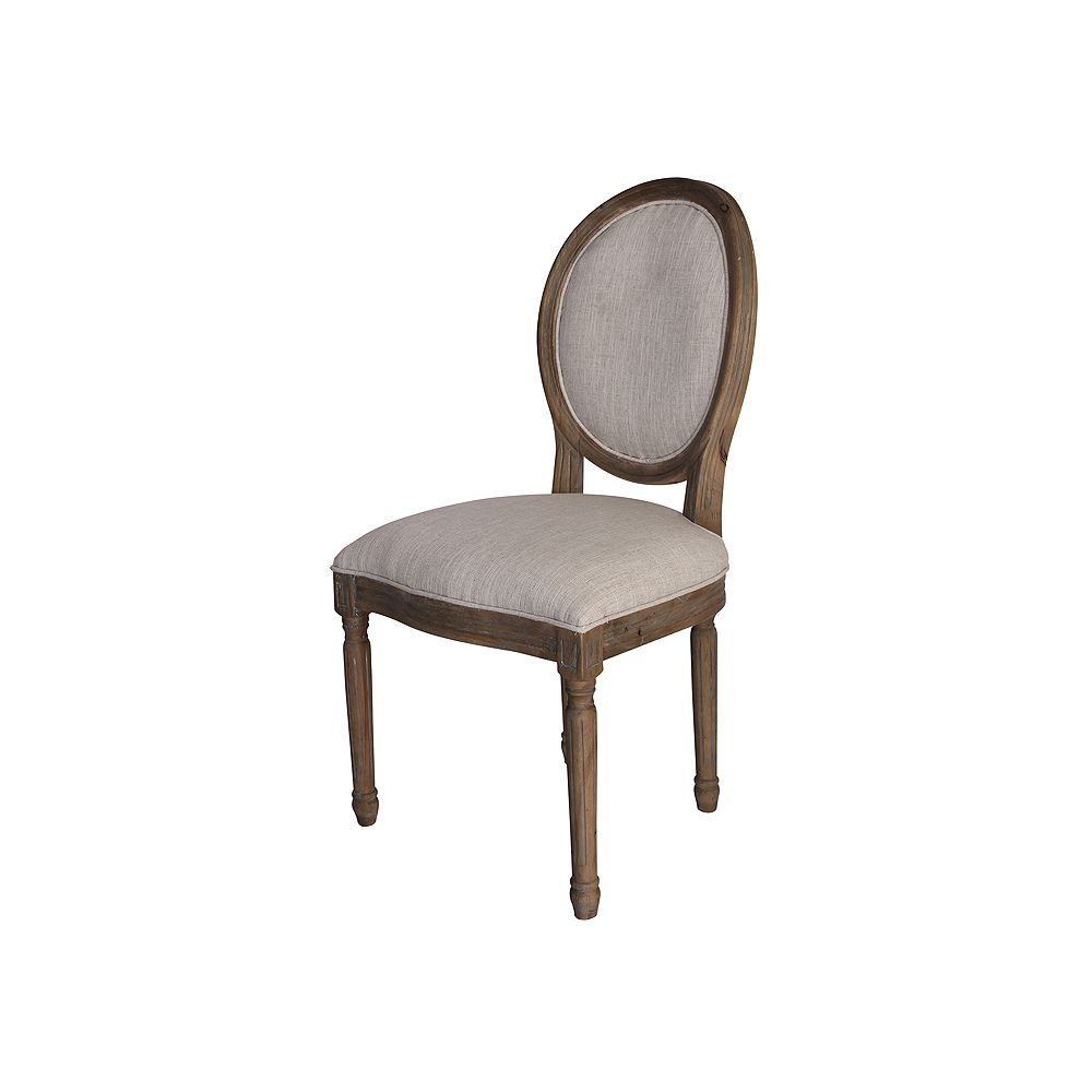 Titan Lighting Chaise Allcott, bois massif, marron