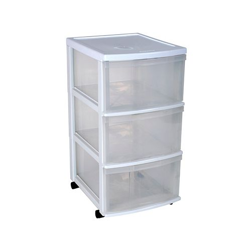 3 Drawer Clear Tower