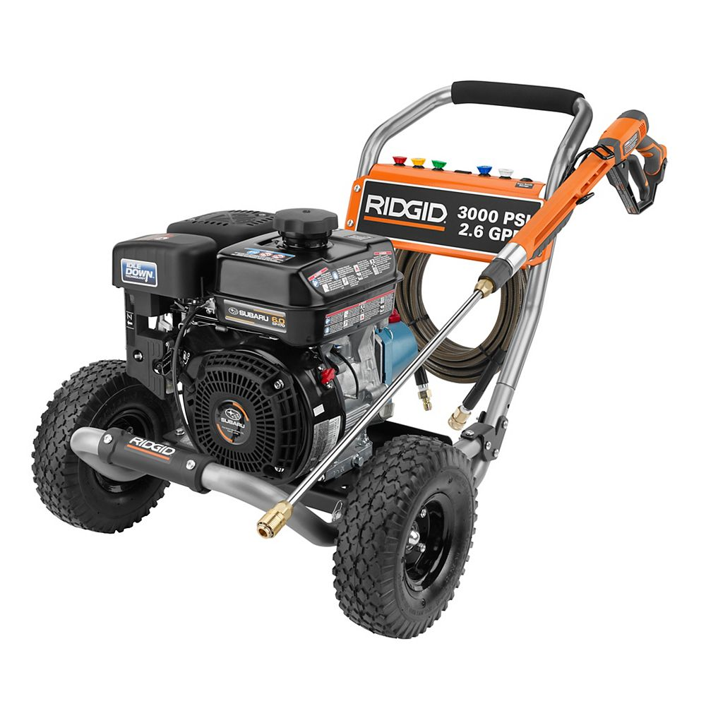 RIDGID 3000-PSI 2.6-GPM Gas Pressure Washer With Cat Pump And Idle Down