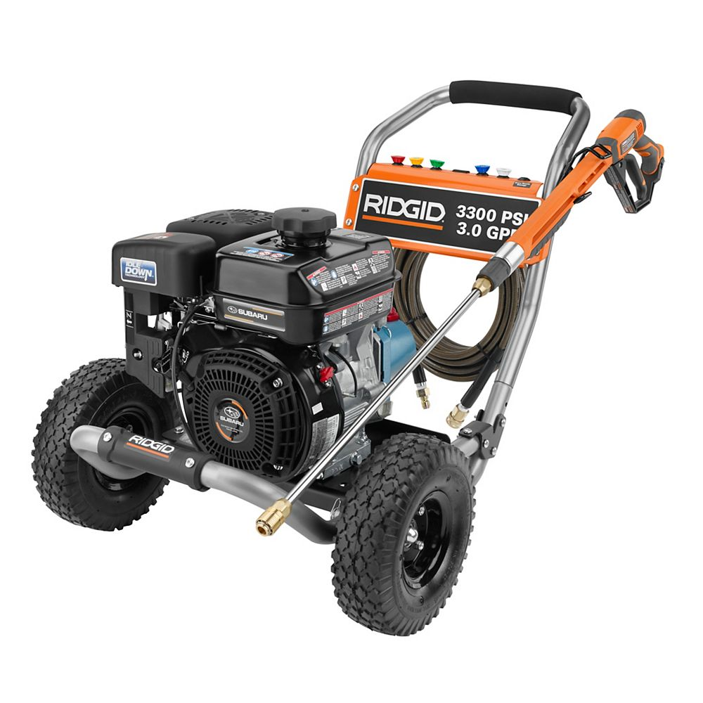 RIDGID 3300-PSI 3-GPM Gas Pressure Washer With Cat Pump And Idle Down