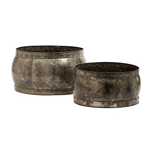 Fortress Barrel Dishes (Set of 2)