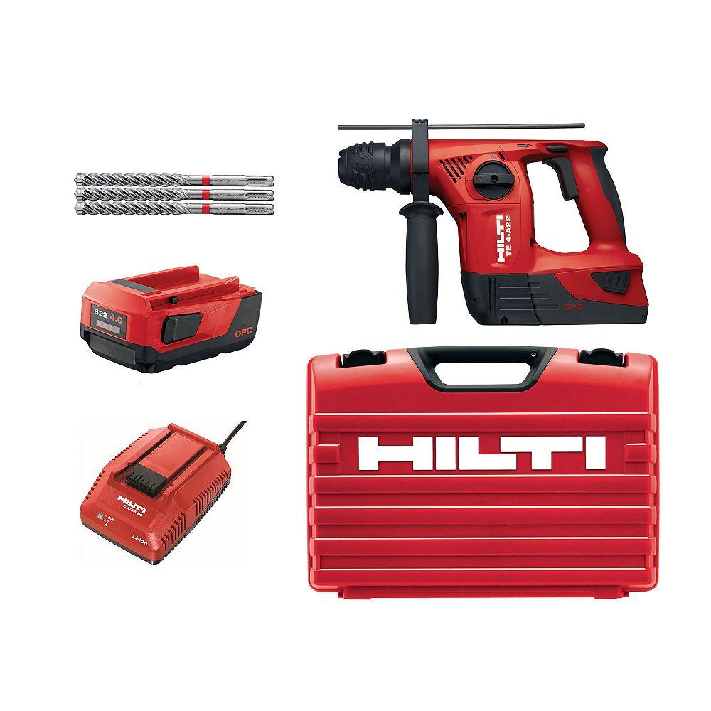 Hilti TE 4 22-Volt Lithium-Ion SDS-Plus Cordless Rotary Hammer Drill