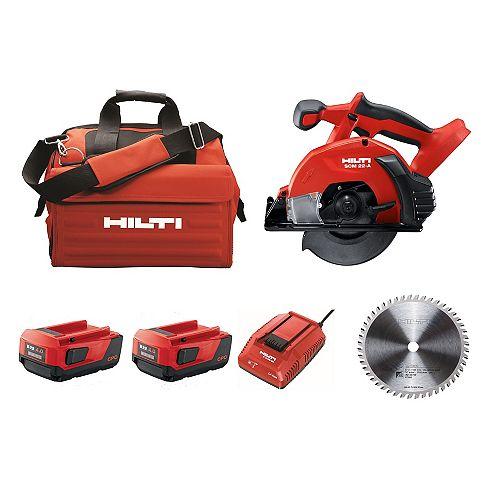 Hilti SCM 22-Volt Lithium-Ion Cordless Metal Cutting Circular Saw Kit