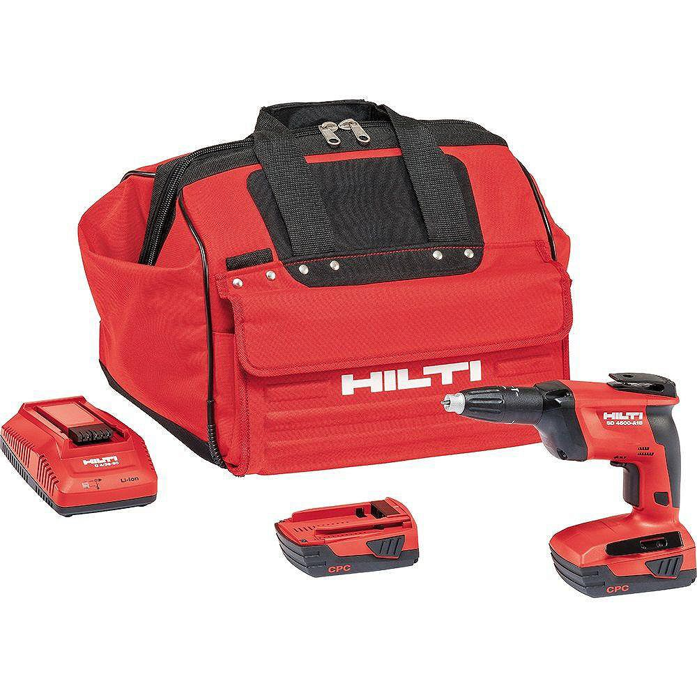 Hilti SD 4500 22-Volt Lith-Ion 1/4 in. Hex Cordless Screwdriver Kit with 22/2.6 Batteries, Charger and Bag