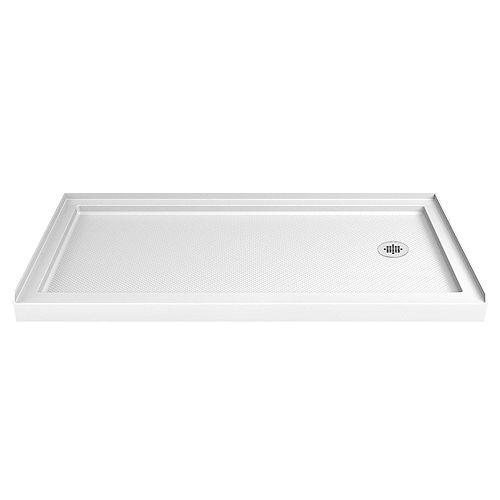 SlimLine 34-inch x 60-inch Single Threshold Shower Base in White