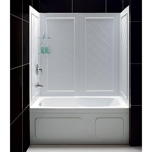 DreamLine QWALL-Tub Kit de parois arrière de la baignoire, Couleur Blanc