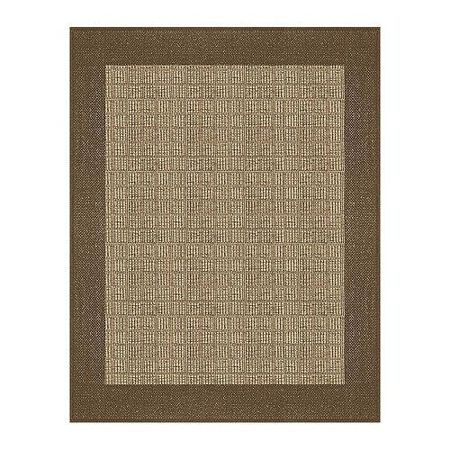 Hampton Bay 5  ft. 2-inch x6  ft. 7-inch Fresco Simcoe Tan/Brown