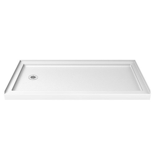 SlimLine 30-inch x 60-inch Single Threshold Shower Base in White
