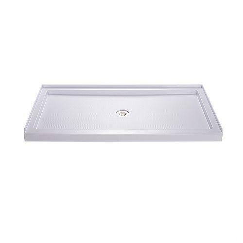 DreamLine SlimLine Base de douche 81 cm x 152 cm, Base avec drain central, Couleur Blanc