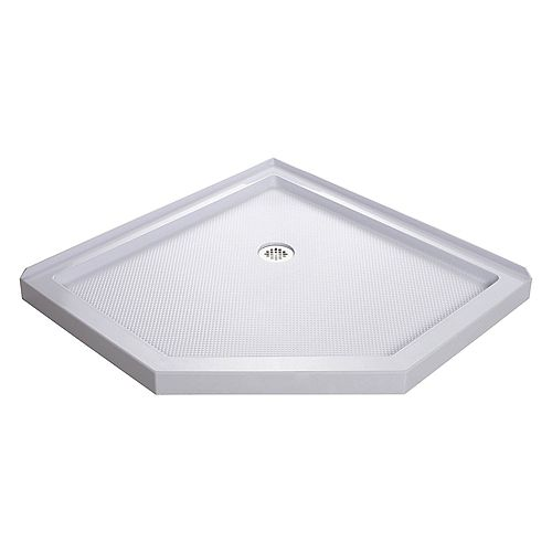 DreamLine SlimLine 38-inch x 38-inch Single Threshold Neo Shower Base in White