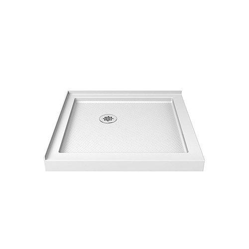 DreamLine SlimLine 36-inch x 36-inch Double Threshold Shower Base in White