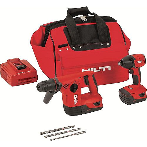18-Volt Lithium-Ion Cordless Rotary Hammer Drill/Impact Driver Combo Kit (2-Tool)