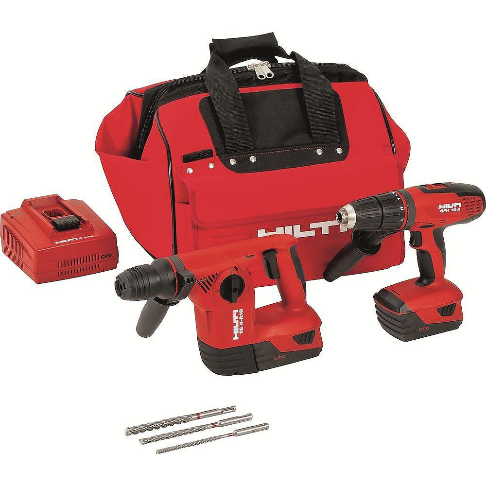 Hilti 18-Volt Lithium-Ion Cordless Rotary Hammer Drill/Hammer Drill Driver Combo Kit (2-Tool)
