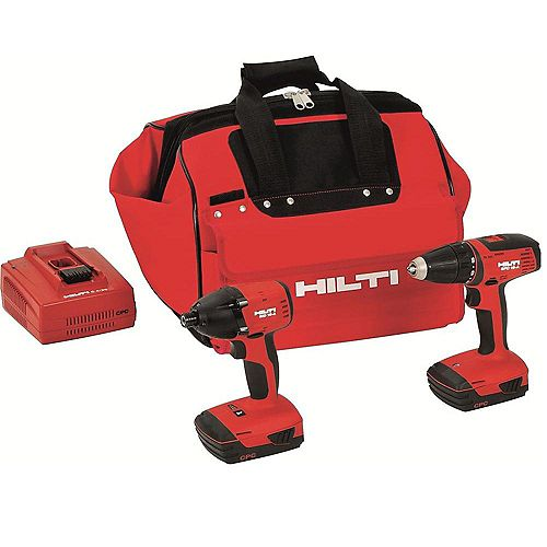 18-Volt Lithium-Ion Cordless Drill Driver/Impact Driver Compact Combo Kit (2-Tool)