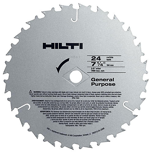 W-CSC 7-1/4 Inch x 24 Tooth General Purpose Circular Saw Blades Contractor's (50-Pack)