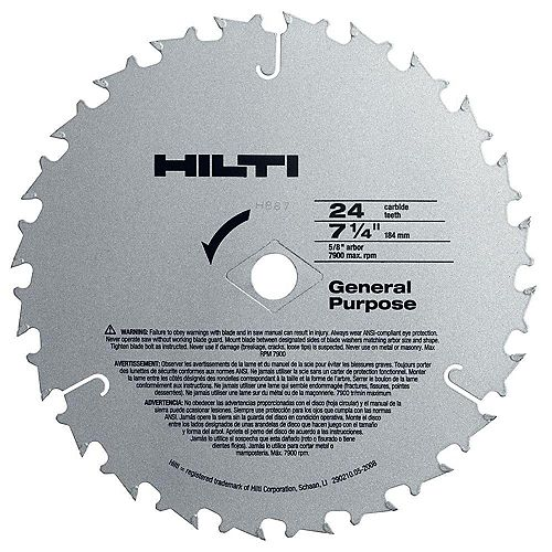 W-CSC 7-1/4 in. x 24-Teeth General Purpose Circular Saw Blades Contractor's (50-Pack)