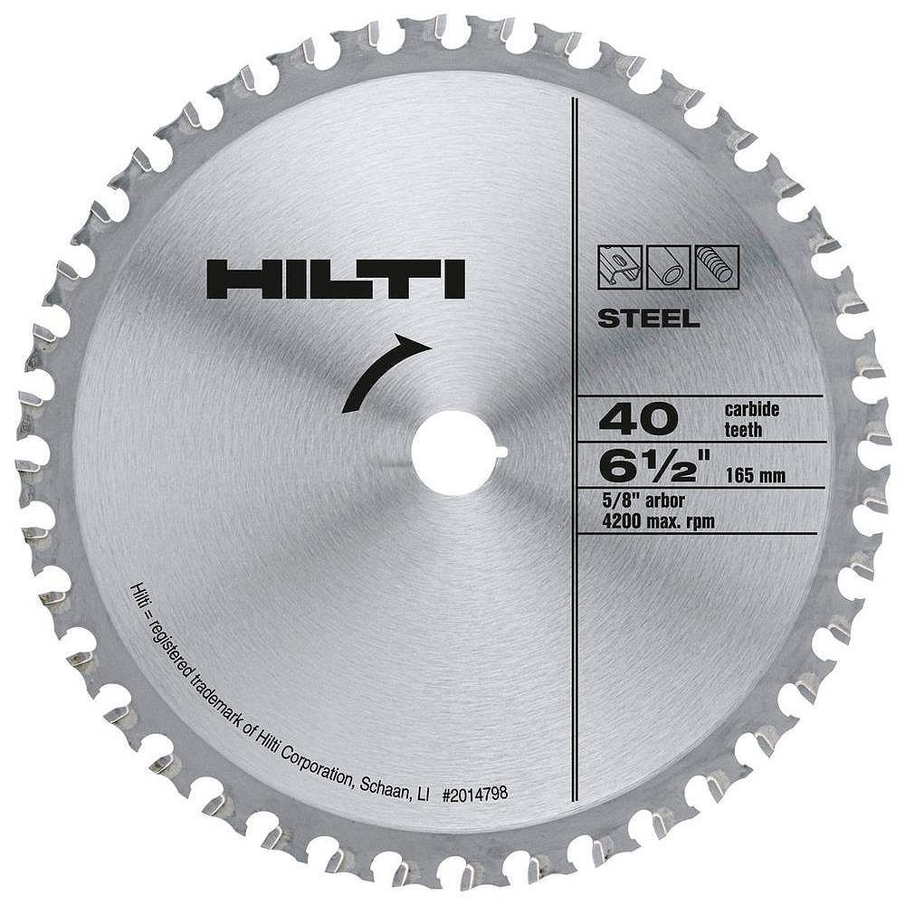 Hilti 6-1/2 in. x 5/8 in. Z40 A Ferrous Blade