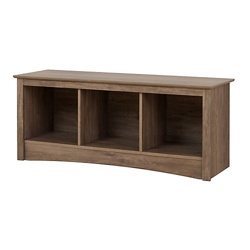 Cubby Bench in Drifted Grey