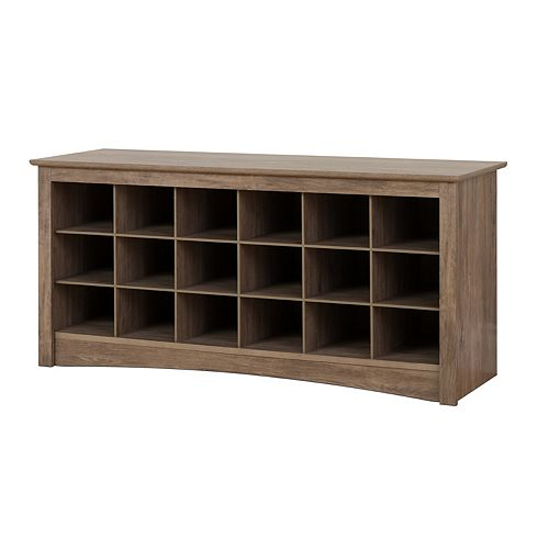 Shoe Cubby Bench, Drifted Gray