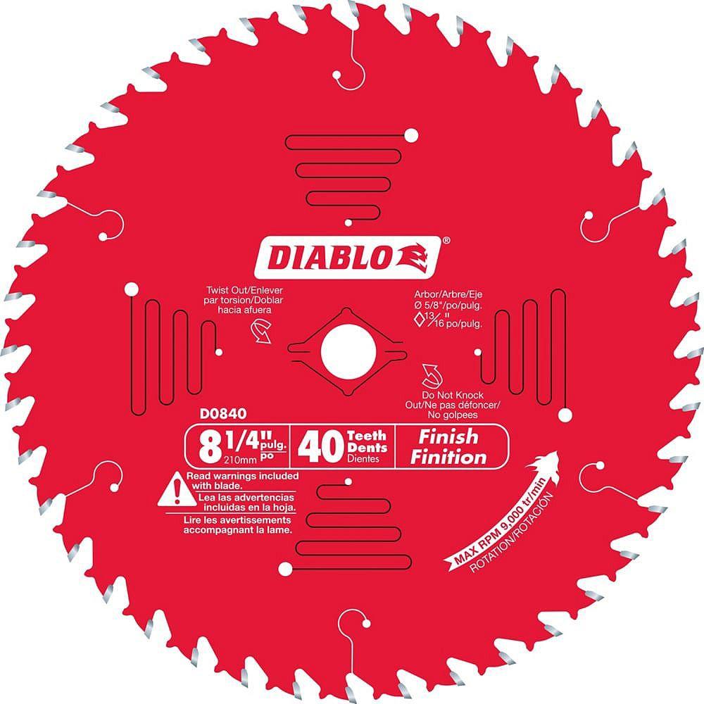 Diablo 8-1/4 x 40 T Finishing Saw Blade