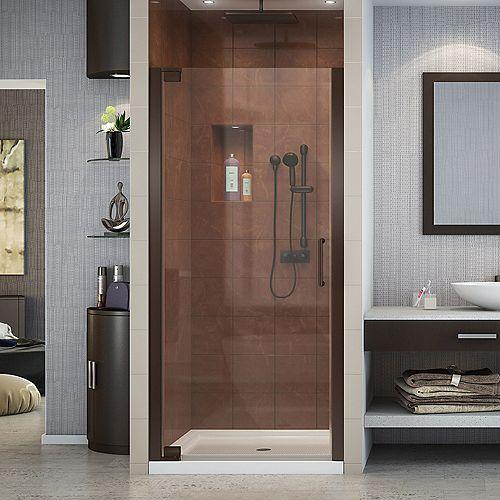 DreamLine DreamLine Elegance 91 cm x 183 cm Porte de douche Pivot Sans cadre, fini Bronze Huilé